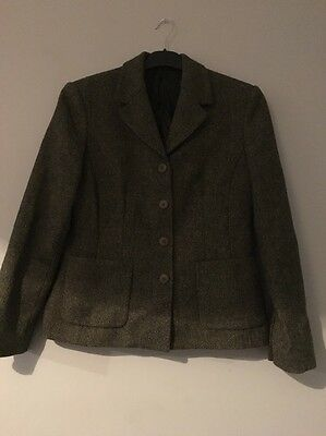 LAURA ASHLEY Wool checked hunting/riding Style jacket size 12 Perfect Cost £69