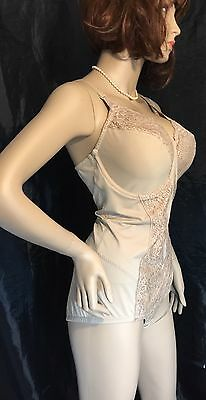 Vintage Flexees Body Shaper Bodysuit All In One Bra 42 D Underwire Lace Briefer