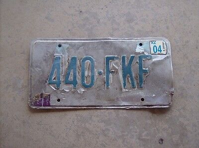 Grand Canyon State of Arizona license plate 440-FKF poor exp 2004 Saguaro