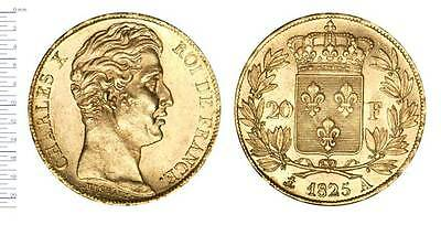 20 Francs Or, Charles X - 1825 A, Sup+