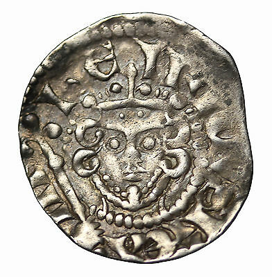 Medieval Henry III 1216-1272 AD Canterbury England AR Penny S-1369 Class Vc