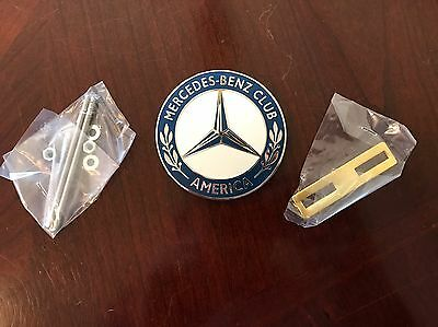 Official Mercedes Benz Car Club of America Grill Badge Emblem Hood Ornament MBCA