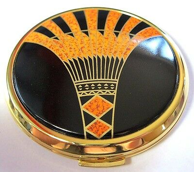 Vintage Art Deco Style Geometrical Signed Stratton Powder Compact Boxed