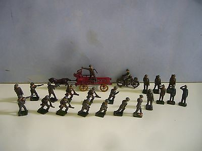 Vintage Lead Simon & Rivollet Horse & Cart, Skybirds Crescent Soldiers Motorbike