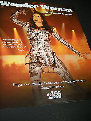 FERGIE is a Wonder Woman PROMO POSTER AD Who Needs Cape