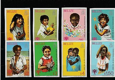 Belize 475-482 B** - Internationales Jahr des Kindes 1980 (SB2125)