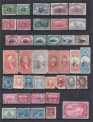 Selection Of Usa Early Range Of Stamps Inc Inter Revenue Used
