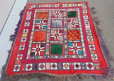 "Beautiful 64"" X 58"" Afghanistan, Middle East, Lined Quilt, Textile 100% Cotton"