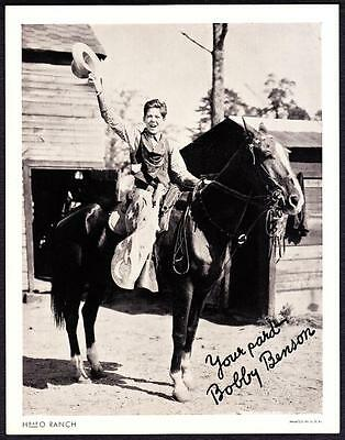 Bobby Benson H-BAR-O Rangers Radio Club 1930s Litho Photo