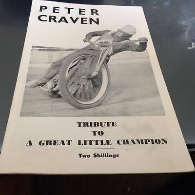 Peter Craven---Tribute To A Great Little Champion--Magazine/booklet