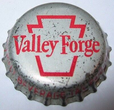 Valley Forge Beer Bottle Cap; 1950-53; Norristown, Pa; Used Cork