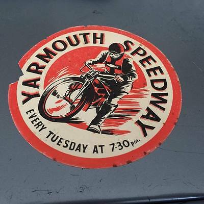 Yarmouth Bloaters---1960's---Speedway---Transfer--Rare