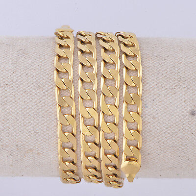 18K Gold Plated Cuban Link Women's/ Men's  Thick Chain Stainless Steel Necklace