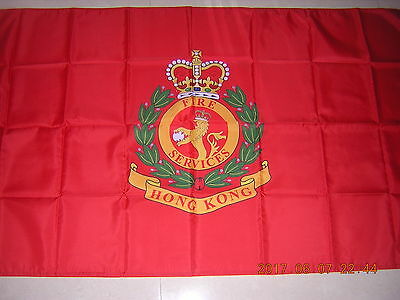 100% NEW Pre 1997 British Hong Kong HK Fire Services Department Flag Red Ensign