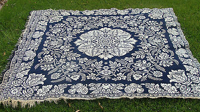 "Ca 1850 2-Panel Jacquard Coverlet, 82"" x 70"" *"