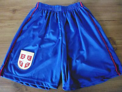 Boys Serbia Football Shorts..Blue...Away..Age 11-12 (152 cms)
