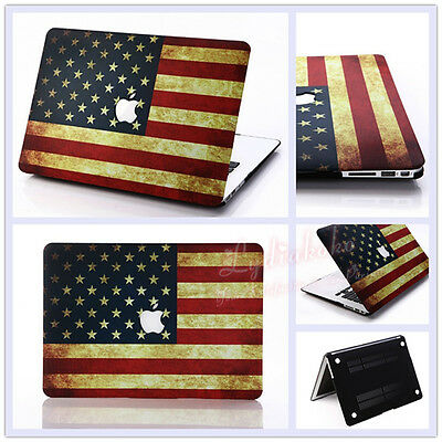 """USA Flag Frosted Matte Hard Case for MacBook 12"""" Air Pro 11.6"""" 13.3"""" 15"""" Retina"""