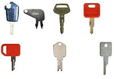 7 Keys Heavy Equipment / Construction Ignition Key Set