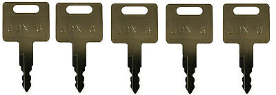 (5)Keys Fit John Deere, Hitachi Excavator Case Dozer Fiat New Holland H800 M1#14