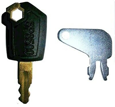 2 CAT Heavy Equipment Keys-Ignition & Battery- Caterpillar-igniton battery-#1,2