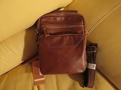 MUNUKEE  - Brown Genuine Leather Shoulder/Messenger Bag - New with Tags