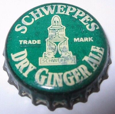 Schweppes Dry Ginger Ale Soda Pop Bottle Cap; Used Plastic-Lined
