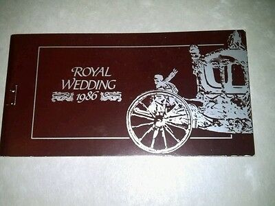1986 ROYAL WEDDING BOOKLET WITH 8 IMFERATED STAMPS. ?????  No 2