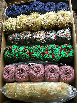 Knitting Yarn Assorted colours/ Makes 30 Balls new & Banded  Job Lot