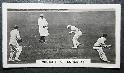 MCC V Australia  Lord's    Original 1920's  Action Photo Card  VGC