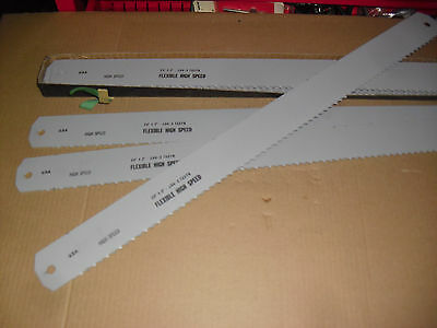 "FIVE !!  24"" x 2"" x .100 x 3 Tooth Flexible  HSS Power Hacksaw Blades"