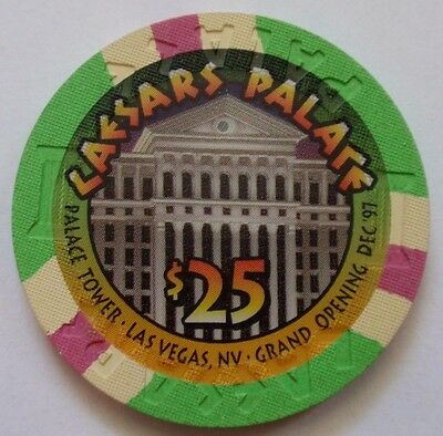 $25 CHIP Las Vegas CAESARS PALACE Casino TOWER Grand Open '97 ~ I Combine SHIP ~