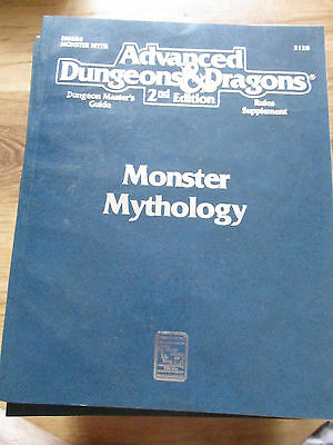 Tsr Ad&d 2E Dmgr4 Monster Mythology 2128 Vgc Advanced Dungeons Dragons
