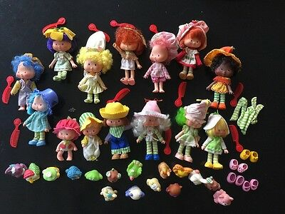 Vintage Original Strawberry Shortcake Doll Pet Combs Lot 1979 American Greetings