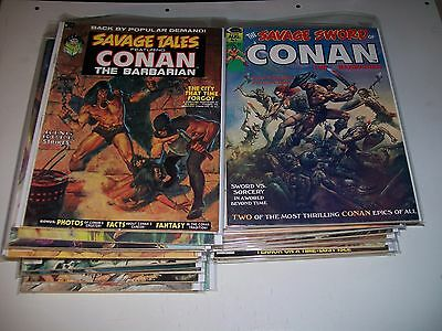 Savage Sword of Conan #1 2 4-36 run lot 42 total single owner collection Fine/VF