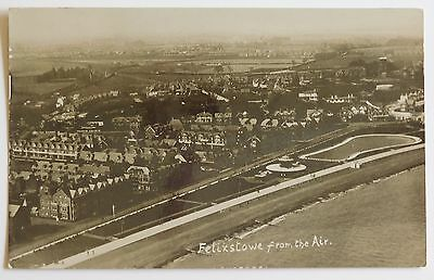 FELIXSTOWE, From the Air, Suffolk RP - 1920's - Vintage postcard