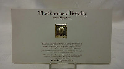 1977 The Stamps Of Royalty Sterling Silver Postage Stamp - No 16 - 1d