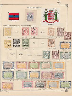 MONTENEGRO 3 ALBUM PAGES COLLECTION LOT FIRST ISSUES $$$$$$$ 99c NO RESERVE