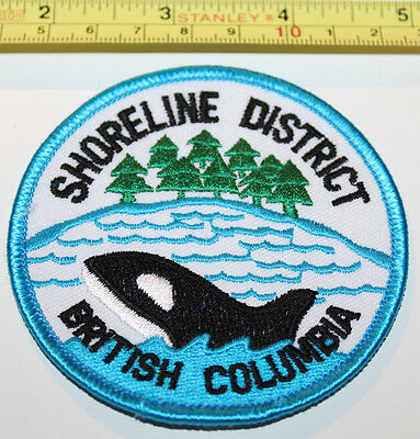 Girl Guides Killer Whale Shoreline District BC Canada Badge Label Patch