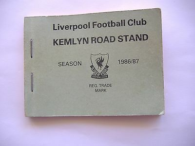 Liverpool F.C.  1986-1987 Season Ticket , Kemlyn Road Stand.