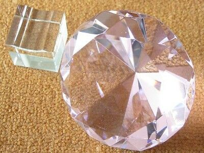 New Huge 100mm Pink Taper Crystal Ball