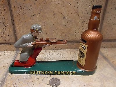 mechanical -SOUTHERN COMFORT metal promotional coin bank