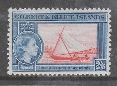 GILBERT & ELLICE Is - 1956.  QE II Pictorial Definitive - 2/6d.., MH