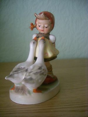 "Hummel Figure ""goose Girl"" 47 3/0 Trademark 5 Lovely Vintage Example"