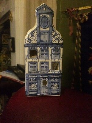 Tea Light / Incense Burner In Shape And Colours Of A Delft House