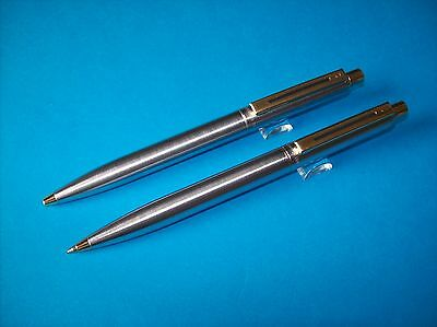 Sheaffer Sentinel Stainless Steel Gt Ballpoint Pen And Mechanical Pencil Set
