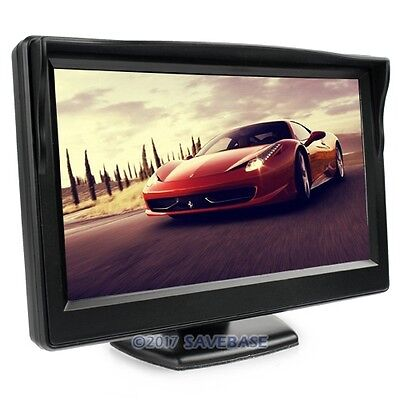 5 Inch Great Color Digital TFT LCD Car Rear View Camera Monitor 2 Video Input