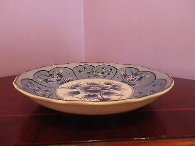 Superb Vintage Japanese Porcelain Flower Design Dish / Bowl 19 Cms Diameter