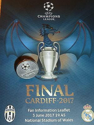 UEFA Pin Badge UEFA Champions League Cardiff Final 2017 RARE