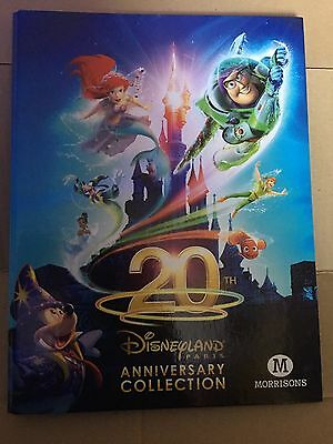 MORRISONS Disney Cards Disneyland Paris 20TH ANNIVERSARY Collection Set In Album