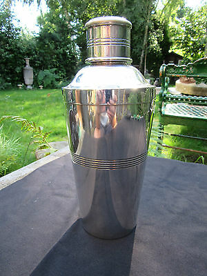 Art Deco Cocktail Shaker EPNS c1920 Silver Plated 1 1/2 Pt Capacity Ex+ Cond
